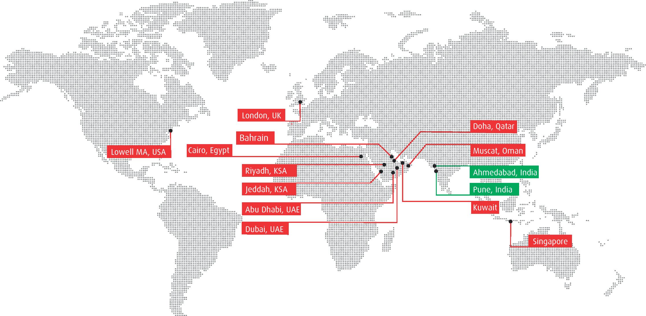 Evosys Map